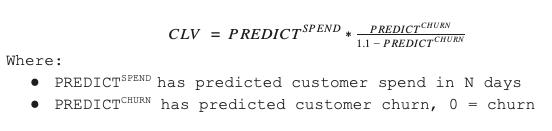 Predicting Customer Lifetime Value - Exponea Product